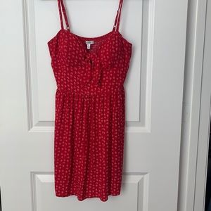 AUW red flower dress
